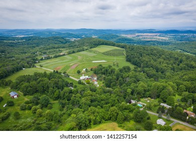Aerial of Bloomsbury New Jersey