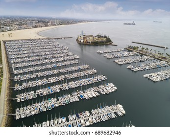Aerial Boat dock area