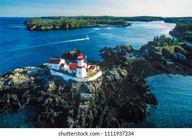 Aerial of Campobello Island, New Brunswick, Canada