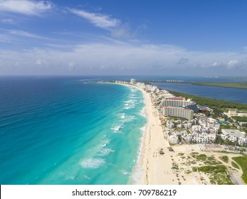 Aerial Cancun Beach Drone