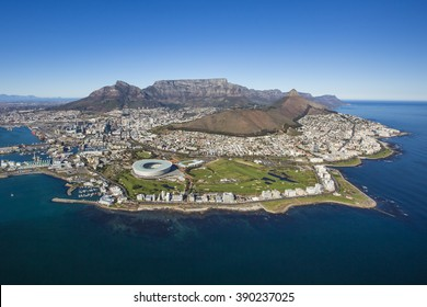 Aerial of Capetown South Africa