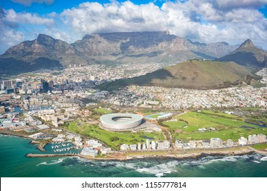 Aerial of the city of Cape Town, South Africa