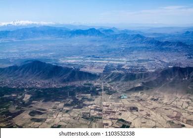 Aerial city view, Kabul-Afghanistan