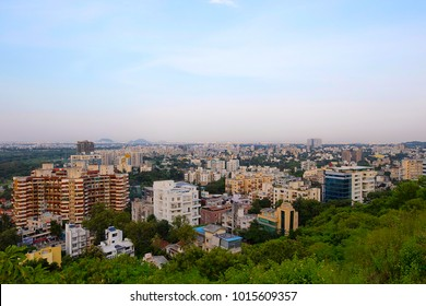 Aerial Cityscape with buildings, Pune, Maharashtra