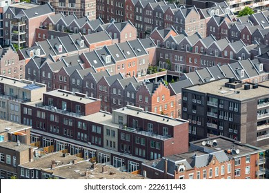 Aerial cityscape of The Hague, governmental city of the Netherlands