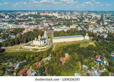Aerial cityscape of Vladimir Russia