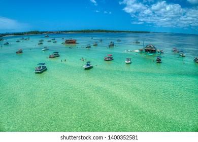 Aerial Close-up of Crab Island, Destin Florida - Shutterstock ID 1400352581