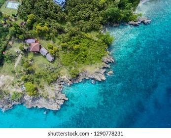 Aerial Coral View at Ujung Kareung, Weh Island, Sabang, Indonesia