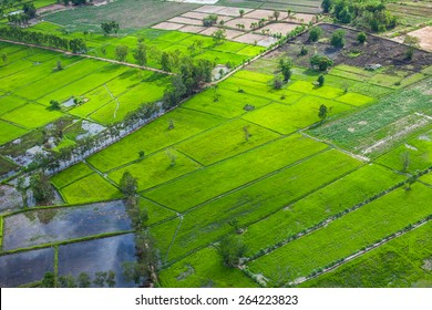 aerial of countryside