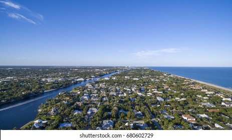 Aerial Del ray Beach, Florida