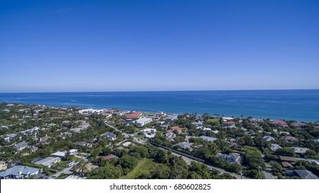 Aerial Del ray Beach, Florida