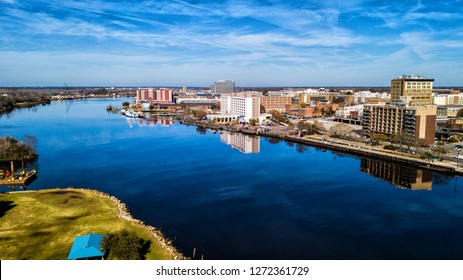 Aerial Downtown Wilmington NC