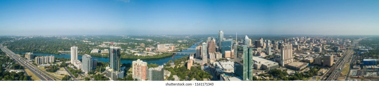 Aerial drone image of Downtown Austin Texas