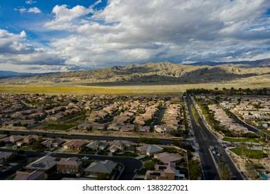 Aerial drone image of Indio CA