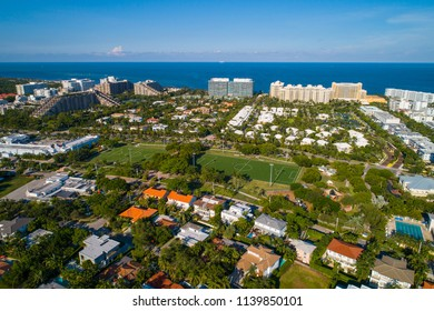 Aerial drone image of Key Biscayne Florida USA