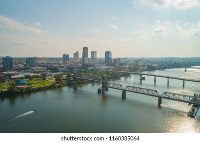Aerial drone image of Little Rock Arkansas USA
