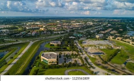Aerial drone image of Port St Lucie Florida USA