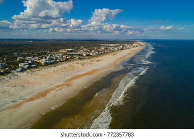 Aerial drone image of St Augustine Beach FL