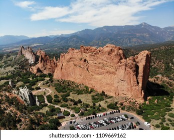 Aerial Drone Images of Garden of The Gods in Colorado Springs CO