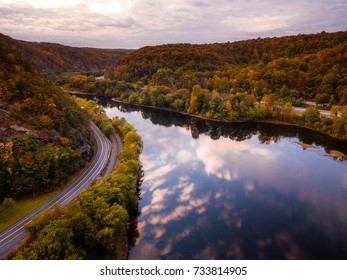 Aerial Drone of Mount Tammany