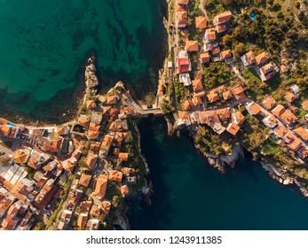 Aerial drone photo of Amasra, Turkey
