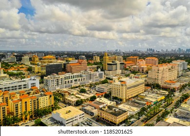 Aerial drone photo of Coral Gables Miami Dade Florida