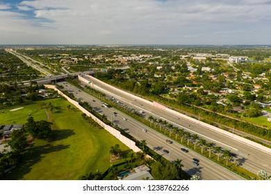 Aerial drone photo Kendall Miami Florida