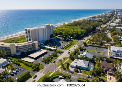 Aerial drone photo neighborhoods Boynton Beach FL