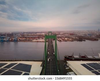 Aerial Drone Photo of Walt Whitman Bridge