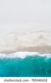 Aerial Drone Shot of Manhattan Beach and sand with coast line