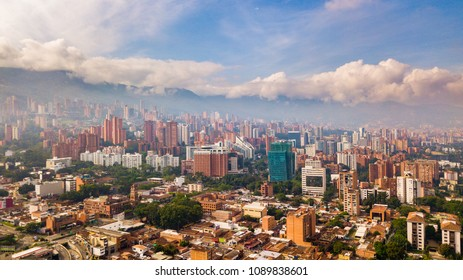 Aerial Drone View of Medellin Colombia