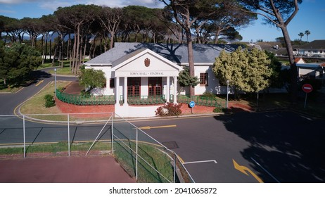 Aerial drone view of the Town Hall in Pinelands, Cape Town, Western Province, South Africa. 13 September 2021.