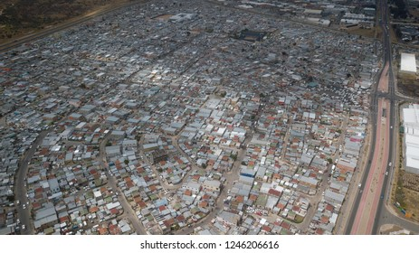 Aerial of Dunoon township South Africa