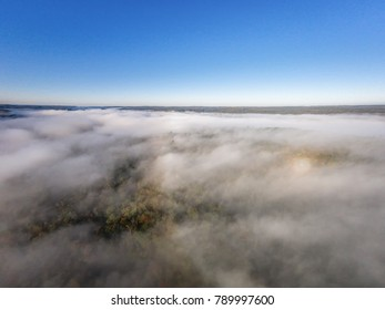 Aerial Fall Morning View