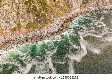 Aerial: The famous Chapman's peak near Hout bay