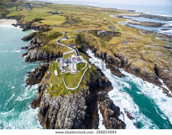 Aerial of the Fanad Head Lighthouse