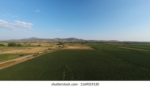 aerial field view
