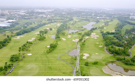 Aerial Flyby Golf Course Weekend
