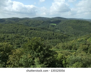 aerial forest scenery around Weimar, a city in Thuringia