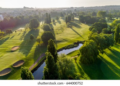 Aerial of golf course