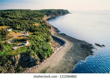 Aerial of Grand Manan Island, New Brunswick, Canada