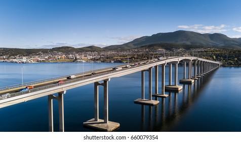 Aerial of Hobart Tasmania