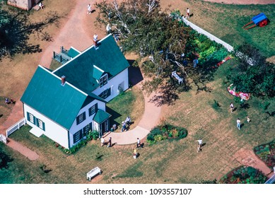 Aerial of home of Anne of Green Gables, PEI, Canada