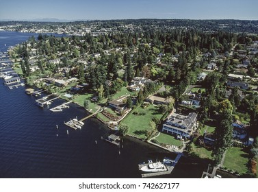 Aerial image of the Bellevue area, Seattle, Washington, USA