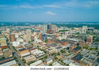 Aerial image of Birmingham Alabama USA