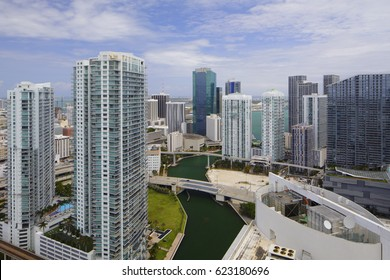 Aerial image of Brickell Miami Florida all logos removed