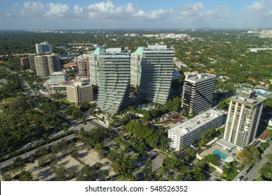 Aerial image of buildings in Coconut Grove Florida