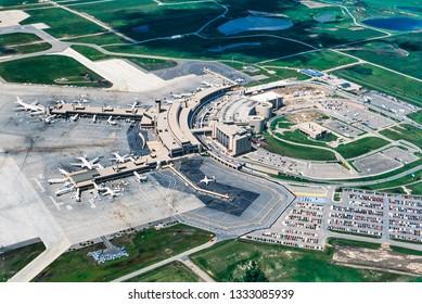 Aerial image of Calgary, Alberta, Canada