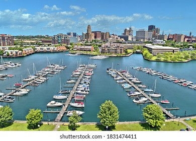 Aerial image captured in Buffalo New York