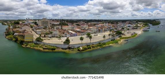 Aerial image of the city of Penedo, Alagoas